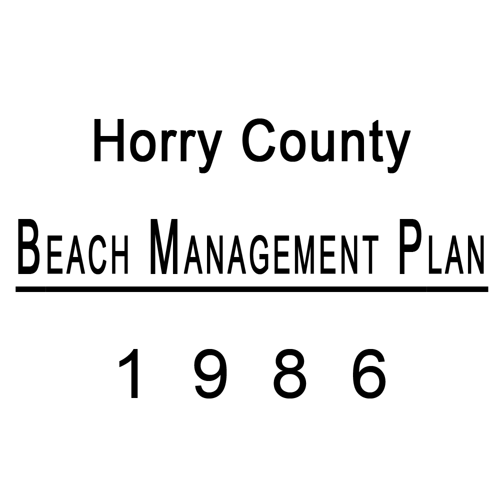 Horry County Beach Management Plan 1986