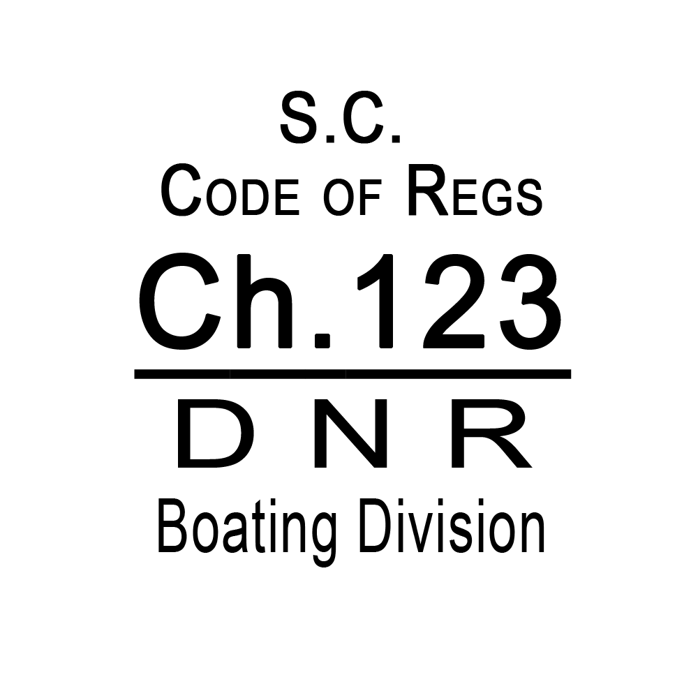 SC Code of Regulations Chapter 123 Boating