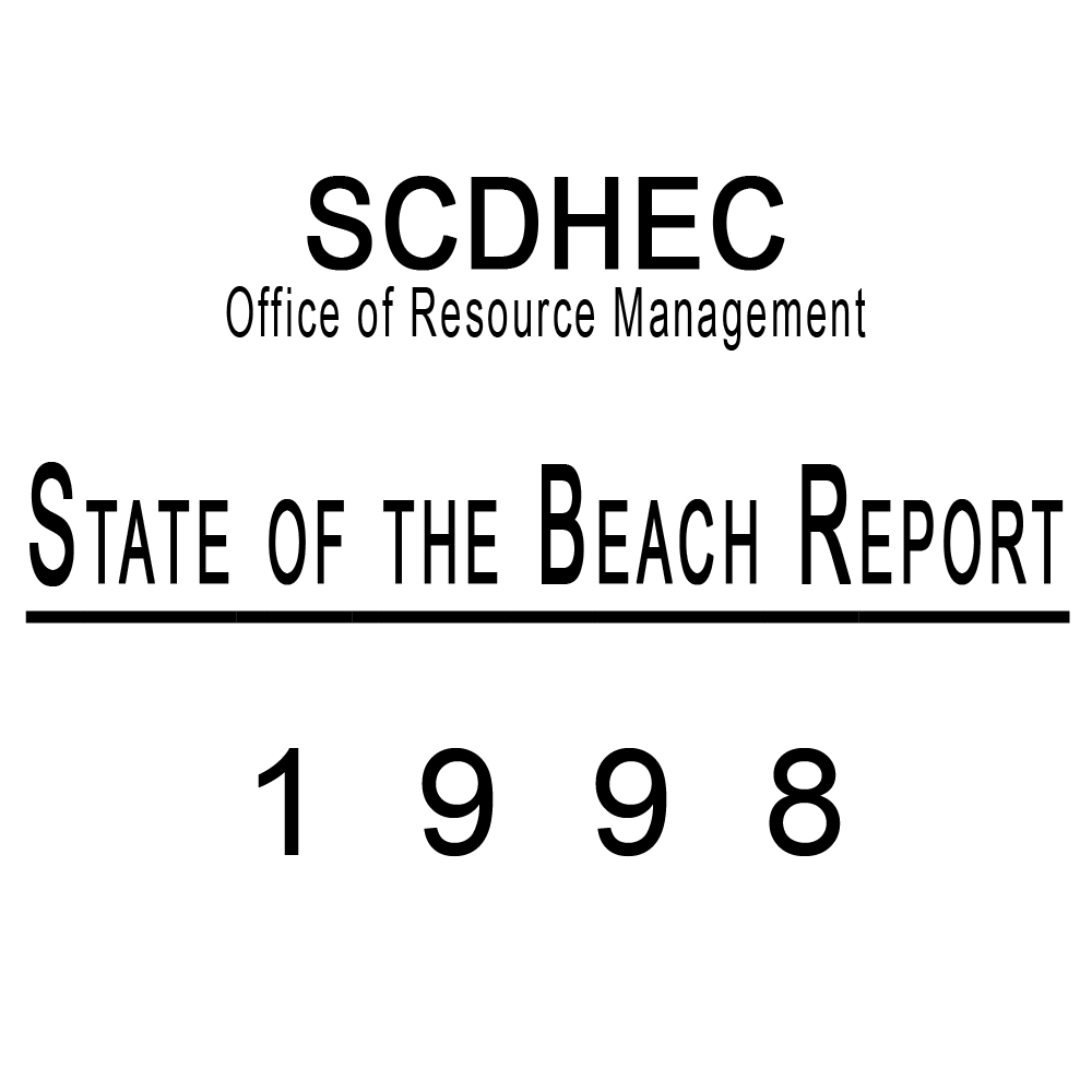 SCDHEC State of the Beach Report Published 1998